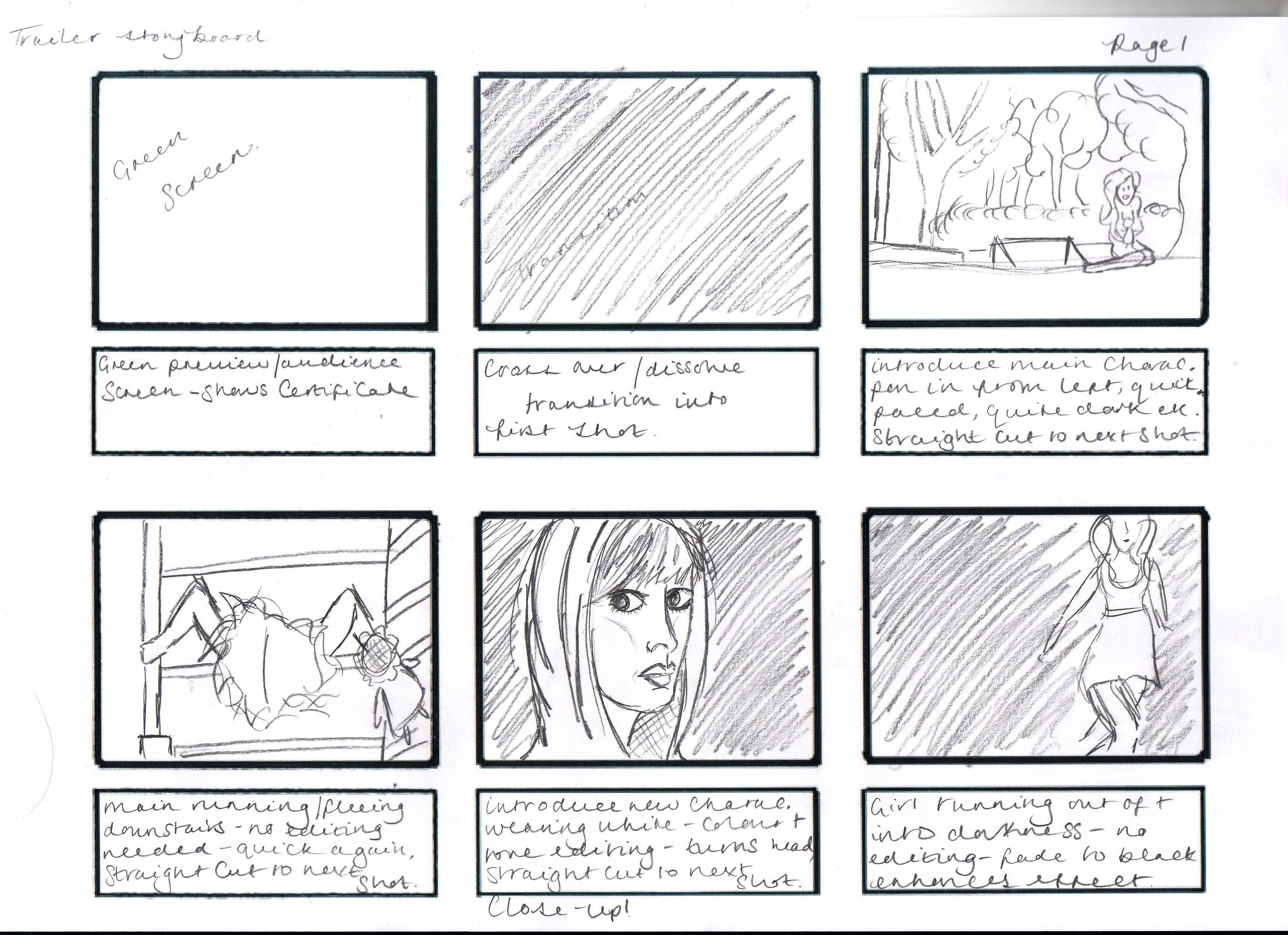 Storyboard For Complete Trailer Mbennettchs S Blog